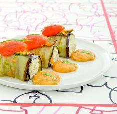 Involtini di melanzana con crema di tofu e fiori di zucca - Tutte le ricette dalla A alla Z - Cucina Naturale - Ricette, Menu, Diete