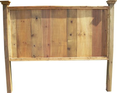 King size knotty pine headboard from Vintage Headboards