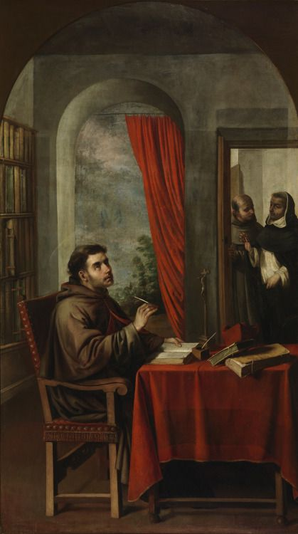 Francisco Zurbaran - St. Bonaventure Receives a Visit from St. Thomas Aquinas