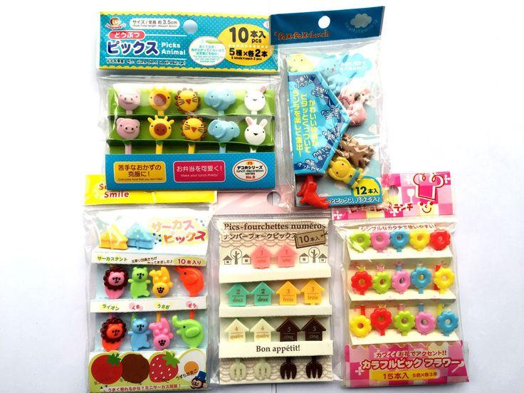 Picks - Japanese Bento Box Lunch Picks - 5 Different Sets - Animals Flowers  #4