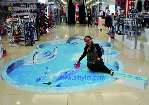 3d floor sticker sinyim printing pinterest stickers for How to create 3d floor graphics