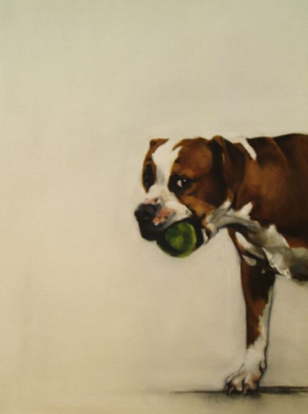 Portraits of Dogs Oil on Canvas by Dede Gold