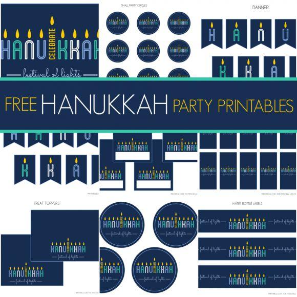 Gorgeous free Hanukkah printables from Printabelle, including a Thanksgivukkah printable!