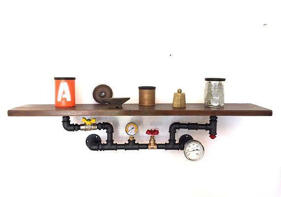 Mensola/Scaffale Steampunk stile Industriale di MaxCreationsItaly
