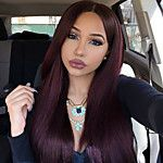 Dark Wine Color Peruvian Vrgin Hair Full Lace Wigs Straight Hair 130% Density Unprocessd Human Virgin Hair Lace Wigs 2017 - $151.24