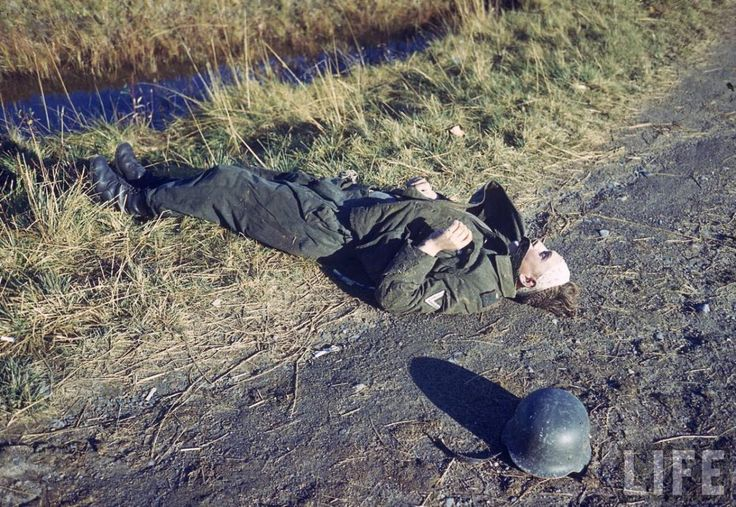 Dead German soldier at Finland, October 1944. LIFE Image