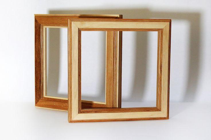 Drewniane ramy z 2 gatunków drewna Wooden frames, 2 kinds of wood