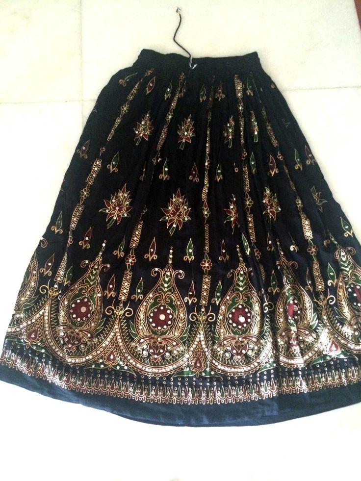 Gypsy skirt Embroidered Indian Skirt Indian Bollywood Skirt belly dance skirt boho skirt Tribal Skirt Ethnic Skirt Indian Skirt by NeelCreations on Etsy https://www.etsy.com/listing/251752281/gypsy-skirt-embroidered-indian-skirt
