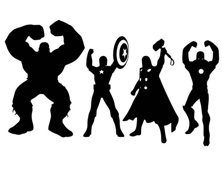 Image result for clip art thor black and white | Superhero ...