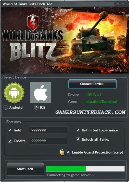 World of Tanks Blitz Hack Unlimited - Gold, Credits, (Anroid, iOs)