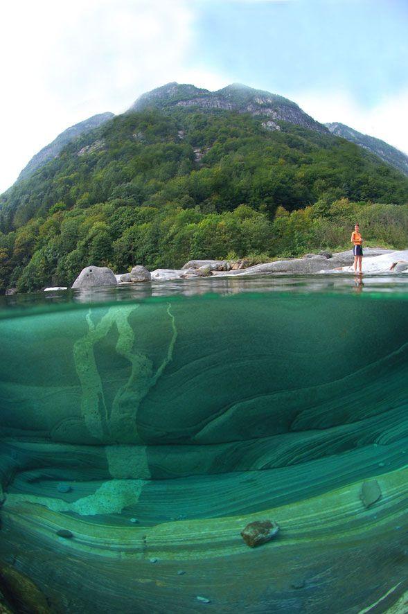 Incredible Clear Waters Of the Verzasca River in Switzerland - by Claudio Gazzaroli