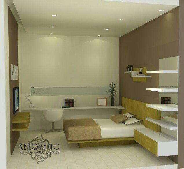 Bedroom at Citraland Surabaya with modern minimalist design