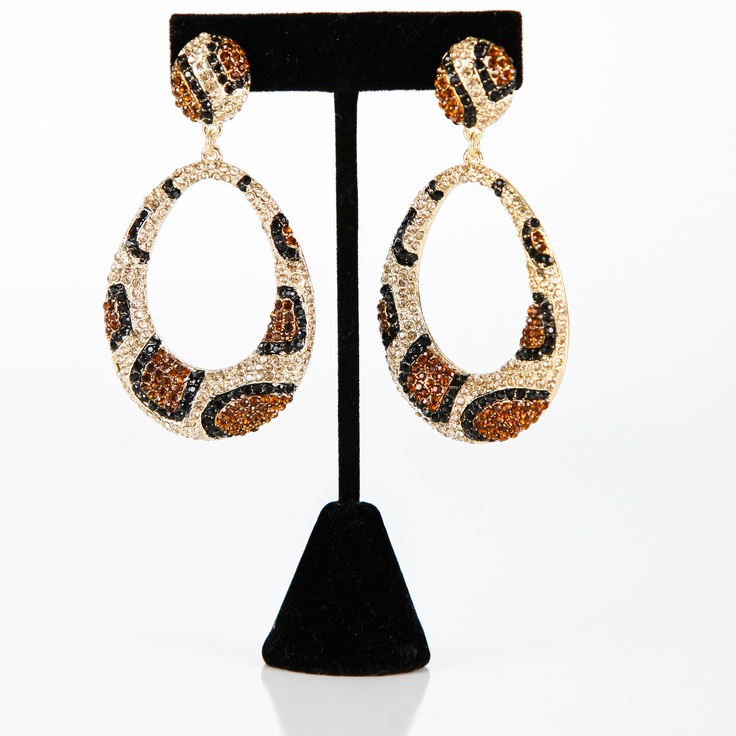 Gold Leopard Earrings  FaceBook Page  LuckyOneJewelry  $30