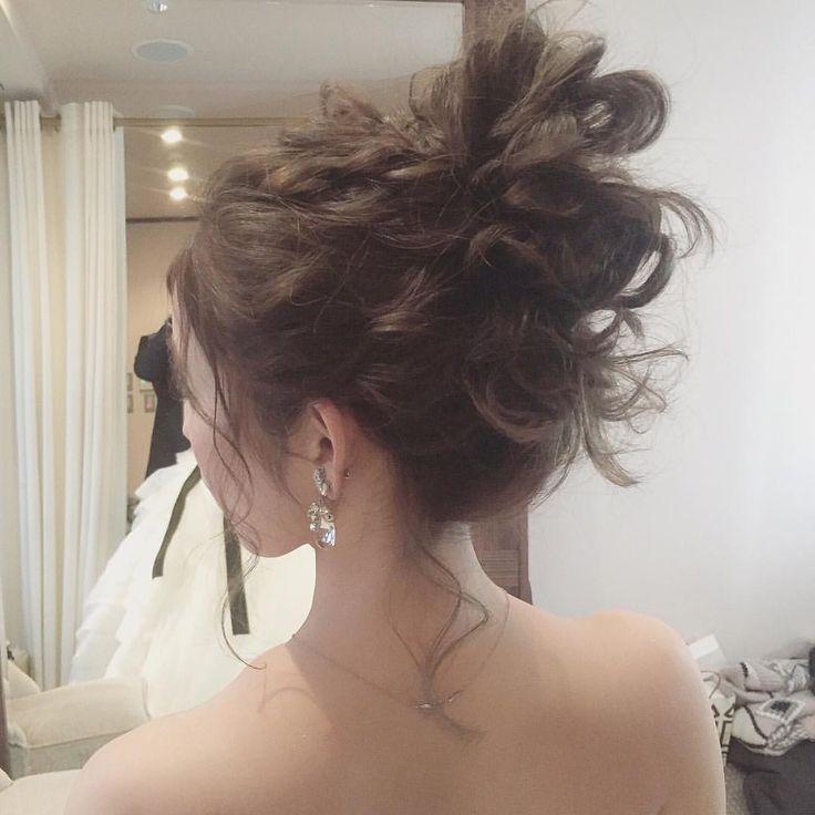 ウェディングヘアアレンジ♡  #ウェディングドレス #ウェディング #プレ花嫁 #ブライダルヘア