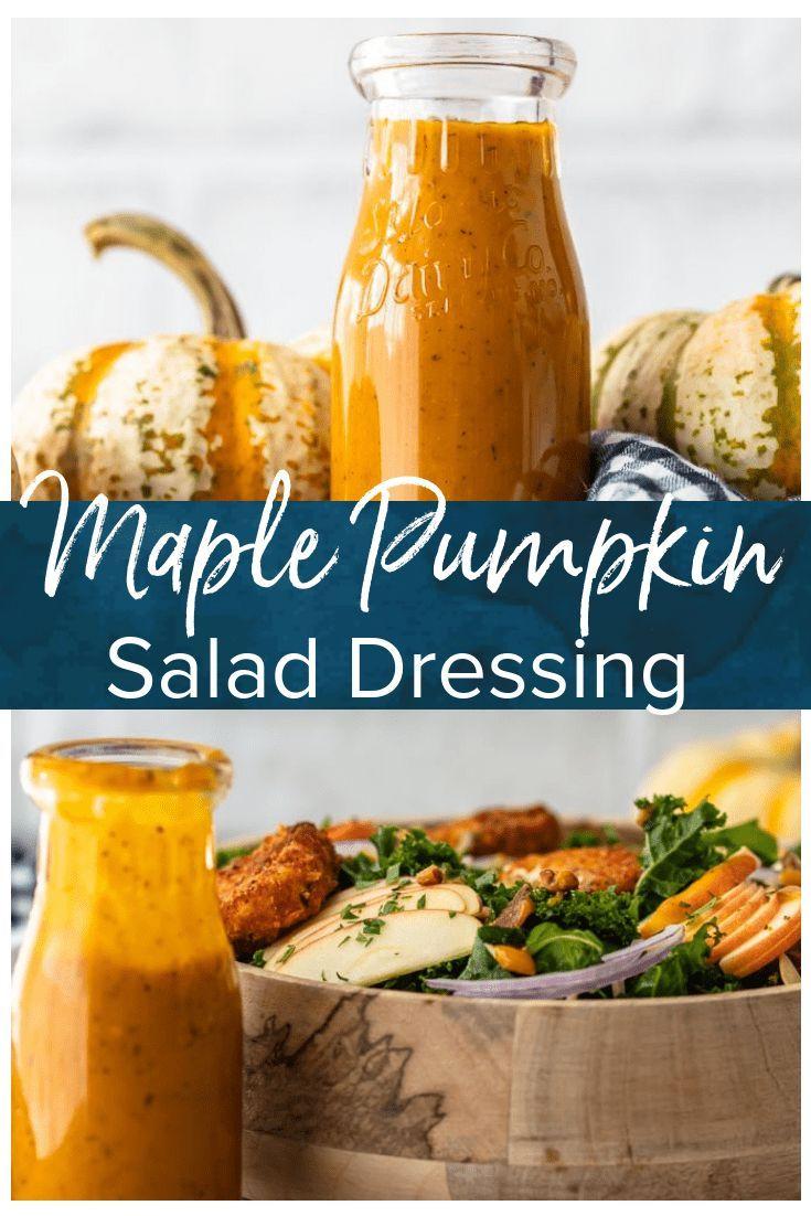 Maple Pumpkin Salad Dressing ist das beste Herbstsalat-Dressing-Rezept! Nichts s …   – FAVORITE  EASY RECIPES