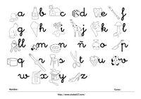 Abecedario letras minúsculas