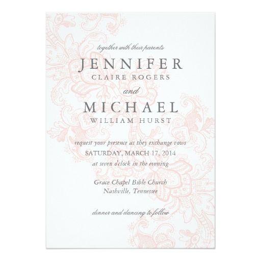 elegant pink lace wedding invitation - Elegant Wedding Invites Coupon