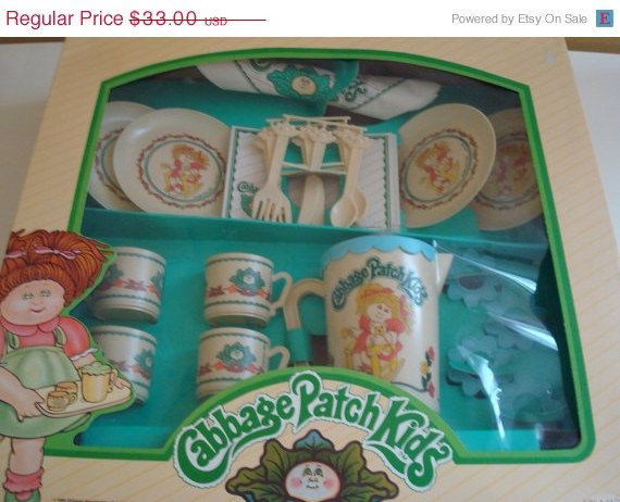 Cabbage Patch Kids Tea Party Cupboard Vintage.   Etsy.
