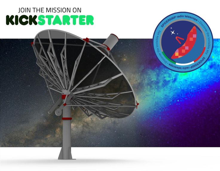 Join the MISSION on KickStarter: together to create the most powerful user friendly #radiotelescope to discover #radioastronomy!
