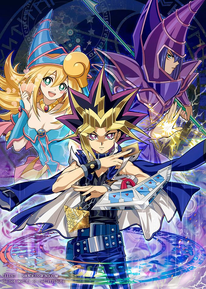 Yu-Gi-Oh! Duel Monsters is a children show, but a guilty pleasure of mine. The duels are tense even if they lack strategy. Plus I love Kazuki Takahashi's art style!