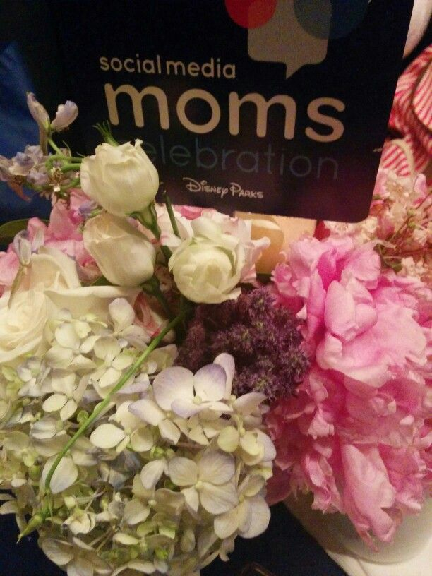 """Tasteful and beautiful floral arrangements at out breakfast tables in the New Amsterdam Theatre for the Disney Social Media Moms Celebration """"On-The-Road"""" New York City 2015 #DisneySMMC"""