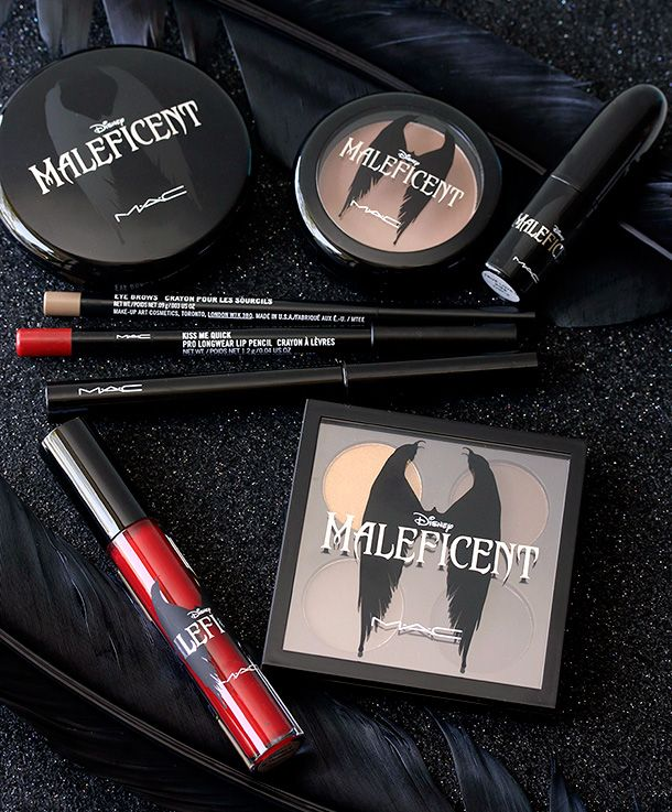 Ooh, love the ravens on the packaging. And it helps that Maleficent  Queen of Hearts are two of my favorite Disney villains. :) | MAC Maleficent Collection (Release date-May 2014).