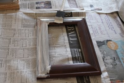 DIY: Painting Picture Frames