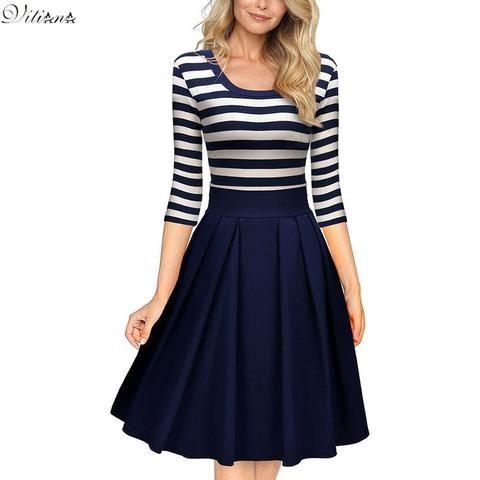 VITIANA Women's Striped Dress