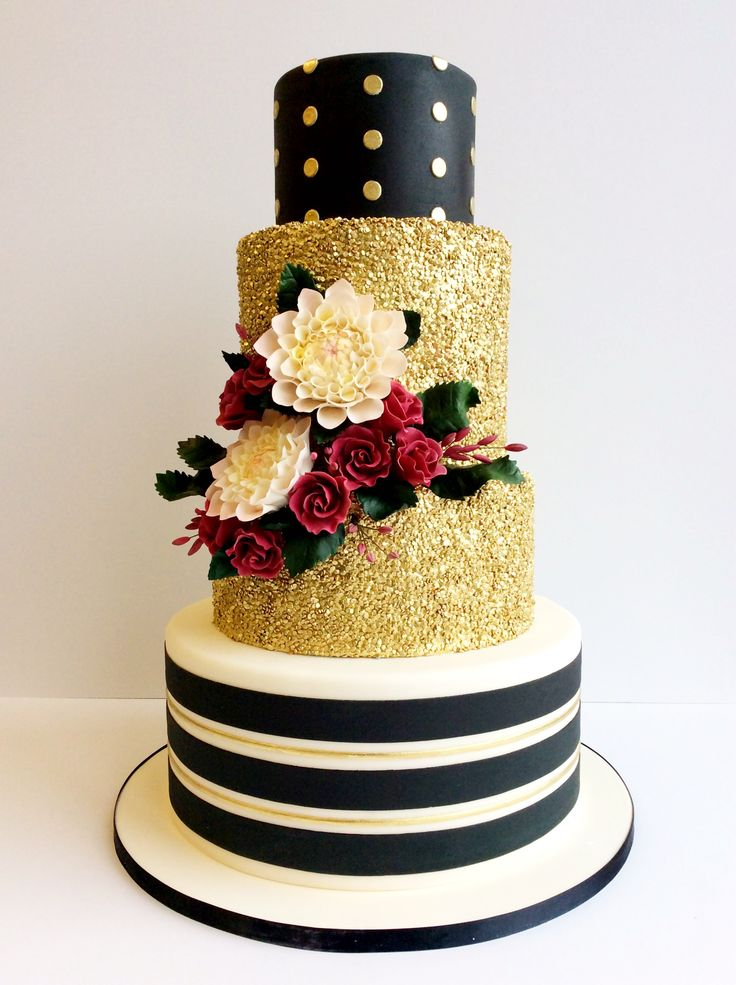wedding cake stripes and polka dots beck cake design chicago il www amybeckcakedesign 25766