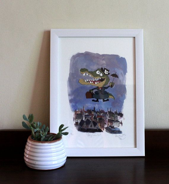 Mary Croccins Childrens Room Art, Fine Art Print by #TerrapinAndToad #london