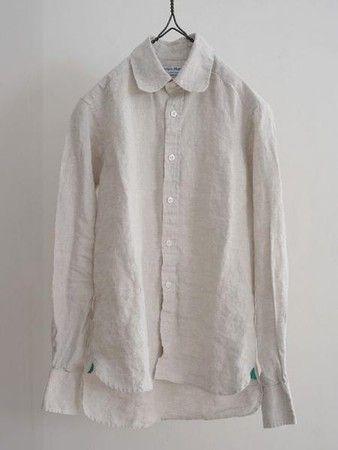 James Mortimer : Irish Linen Shirt oatmeal