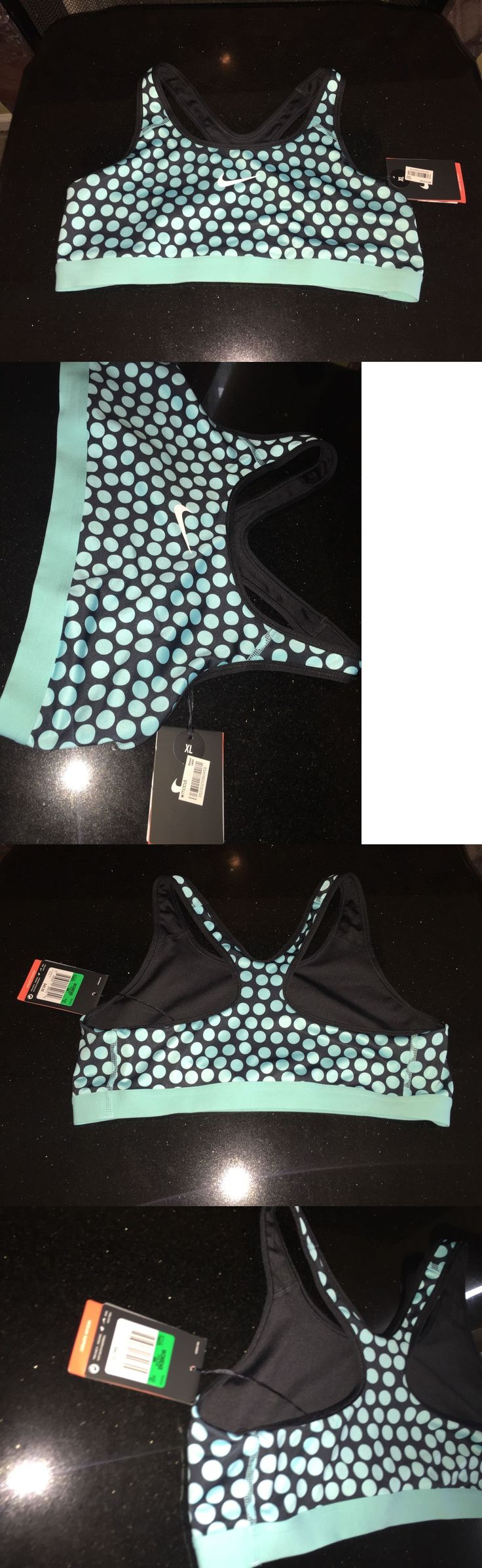 Sports Bras 59315: Nwt Nike Blue Polka Dot Victory Dri-Fit Compression Support Sports Bra Womens Xl -> BUY IT NOW ONLY: $32.87 on eBay!