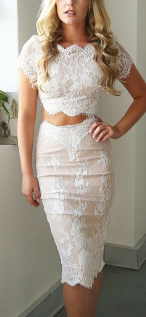 Lace two piece suit. women fashion outfit clothing style apparel @roressclothes closet ideas