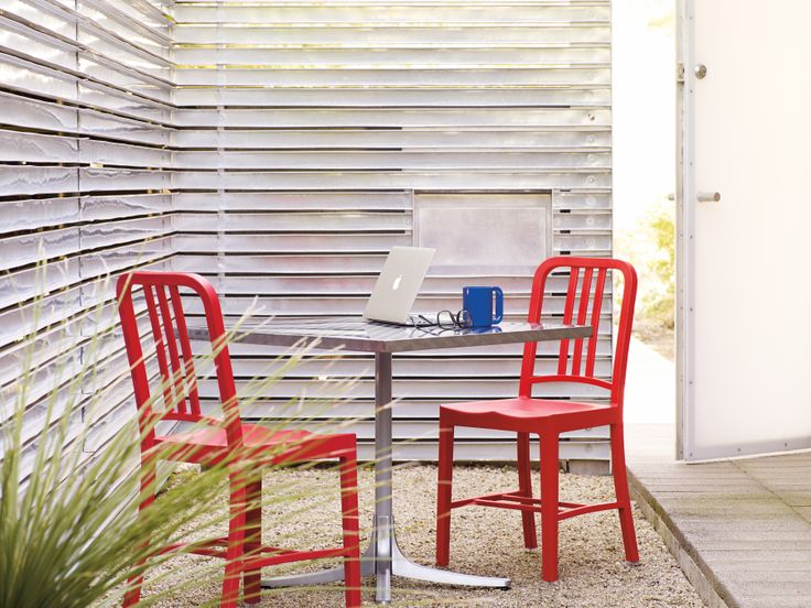 Emeco: Strong, sustainable, well built (perfect on paper and in person).   111 Navy Chair | Designed for Emeco
