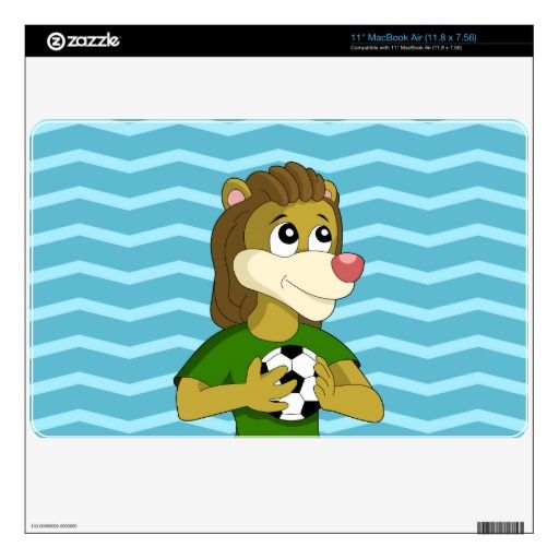 Cute lion cartoon MacBook skin