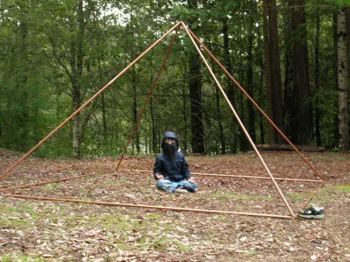 meditation in ten foot base copper pyramid using the pyramid connectors, Zantu.