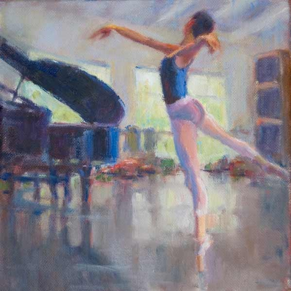 The Carolina Ballet On Canvas - Piano & Point by Nicole White Kennedy - http://www.nicolestudio.com/images/NicoleArt/Figurative_still_life.html