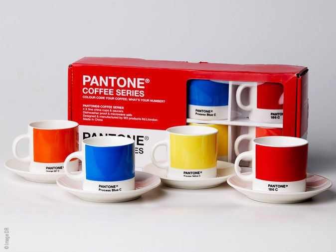 Tasses Espresso Pantone : Pause Cafe Trendy - MaxiTendance