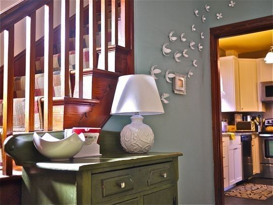 Like The Grey Blue With Our Dark Wood Trim Just Cant Go Too For Small Space Choosing Paint Colors To