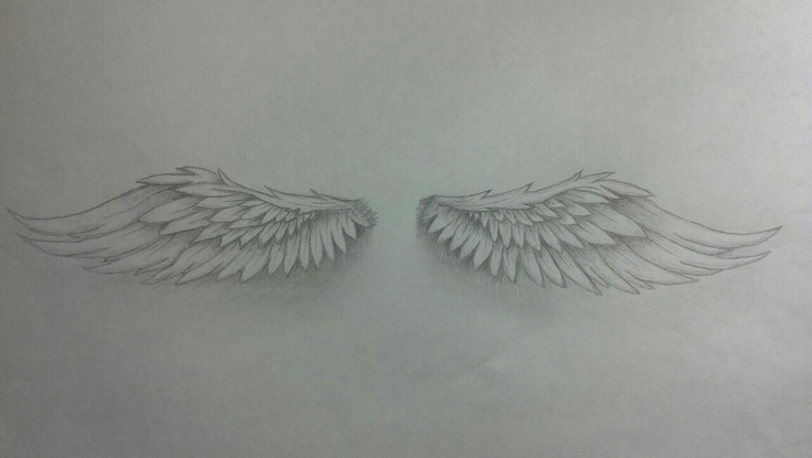 Angel Wing Tattoo add a fluer de lis in the middle and this is exactly what I want!
