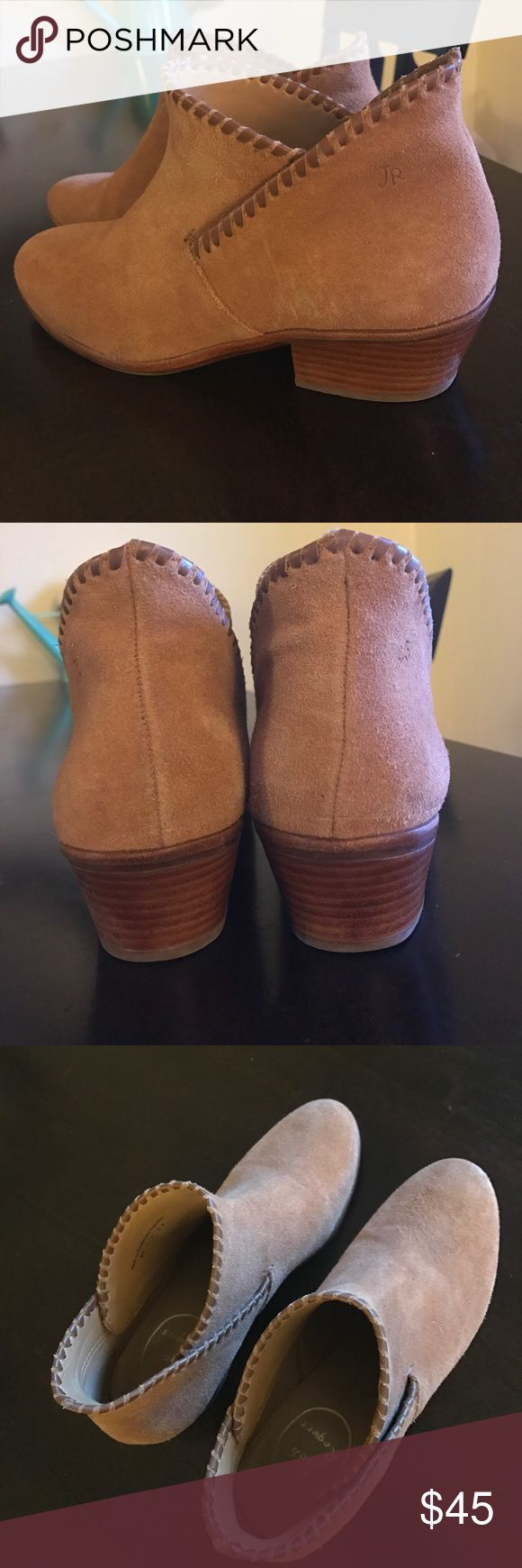 Jack Rogers tan booties🐰 Sadie suede bootie!! Size 6, worn twice, in great condition!! Suede - Tan color with leather detail around ankle, they look great with skinny jeans, very comfortable bootie with a timeless appeal🤗 Retail $148😮 ❌NO - discoloration tears or scuffs❌ Jack Rogers Shoes Ankle Boots & Booties