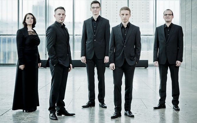 """A perfect blend of sound, precision, lightness and wit are the hallmarks of CALMUS, now one of the most successful vocal groups in Germany. They'll present """"Christmas Carols of the World"""" for their Spivey Hall debut on Saturday, December 5, 2015. Tickets: 678-466-4200."""