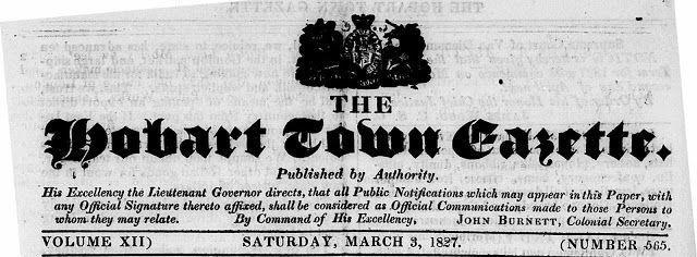 The Hobart Town Gazette - 3 March 1827