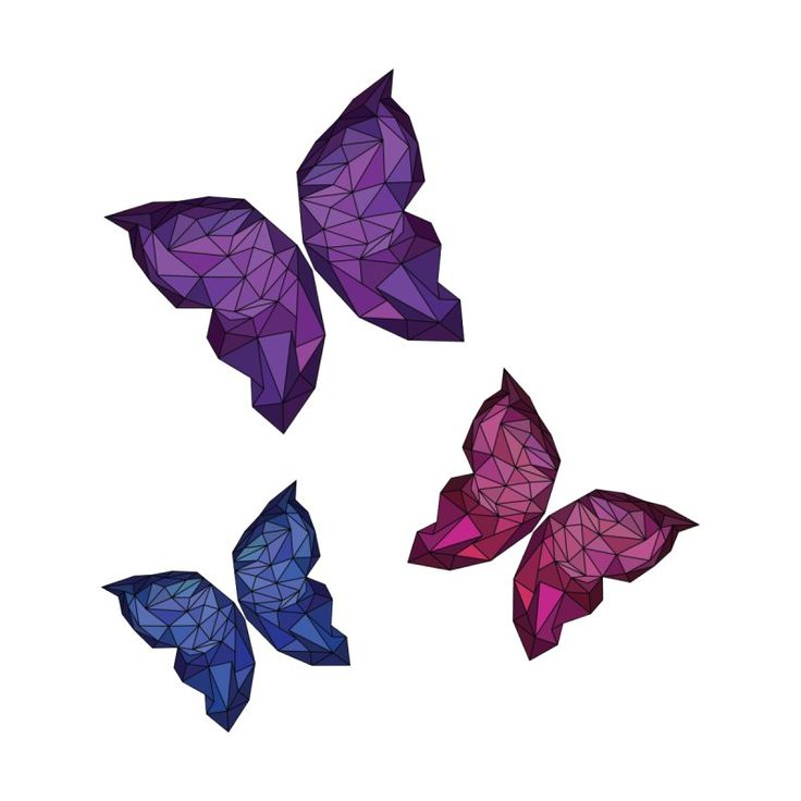 polygon butterfly by polygon's Artist Shop