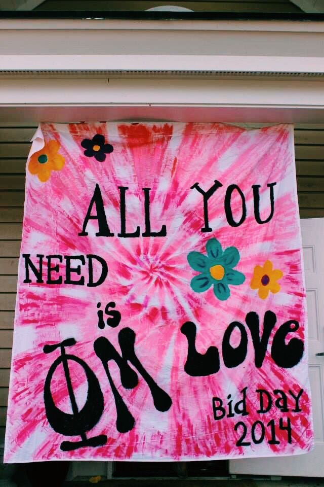 Hippie idea for bid day! all you need is gphi love