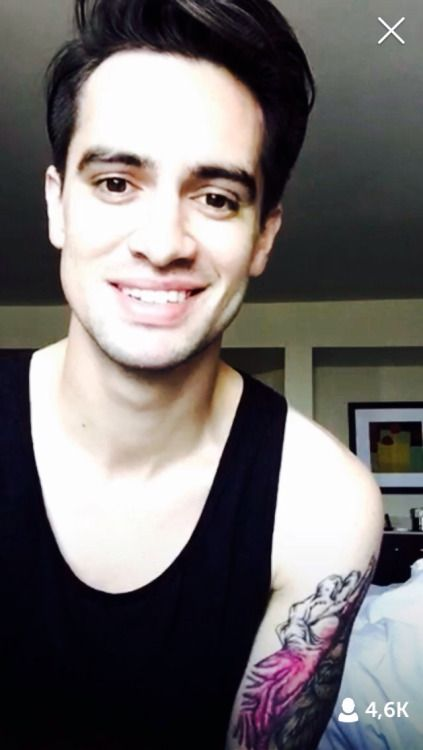 """i always destroy myself by thinking things like """"imagine waking up to brendon smiling at you"""" because i'm literally 14 i shouldn't be thinking that"""