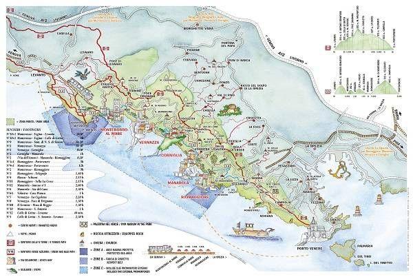 Чинкве Терре на карте Италии