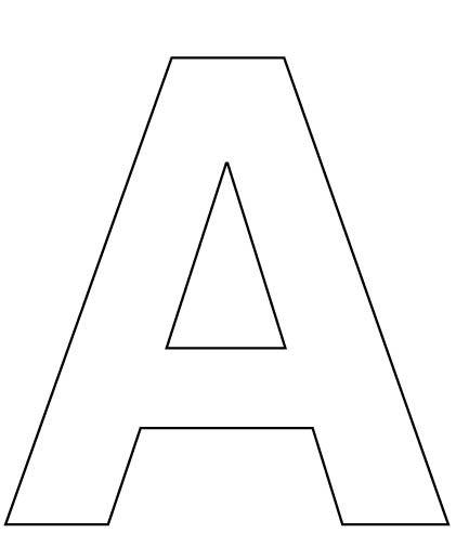 AlphabetLetterAcoloringpageforkids preschool