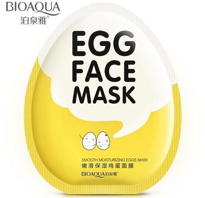 10pcs/set BIOAQUA Smooth moisturizing egg Facial Mask Hydrating moisturizing oil control shrink poresMask face care