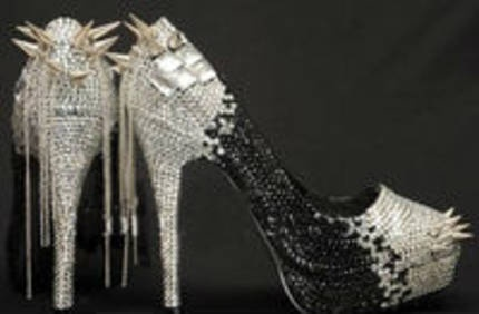 Stunning WOMENS SWAROVSKI CRYSTAL HIGH HEELS BLACK SPIKES & CHAINS PLATFORM Party Shoes $220.00      Available in different colours   free postage in Australia    Purchase any swarovski crystal shoe in August and receive a free jewellery gift to the value of 98.00+.     to view the entire collection please visit   http://glamorousstore.com/product-category/crystal/